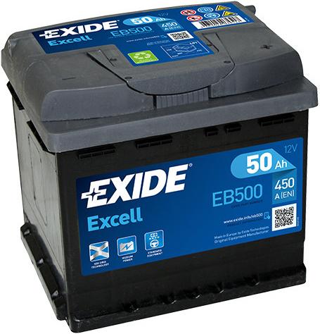 Autobaterie Exide Excell 12V 50Ah 450A