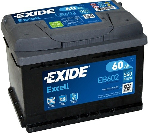 Autobaterie Exide Excell 12V 60Ah 540A
