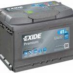Autobaterie Exide Premium 12V 61Ah 600A