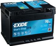 Exide Start-Stop EFB 12V 70Ah 720A